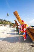 Long tail boats on Ko phi phi island