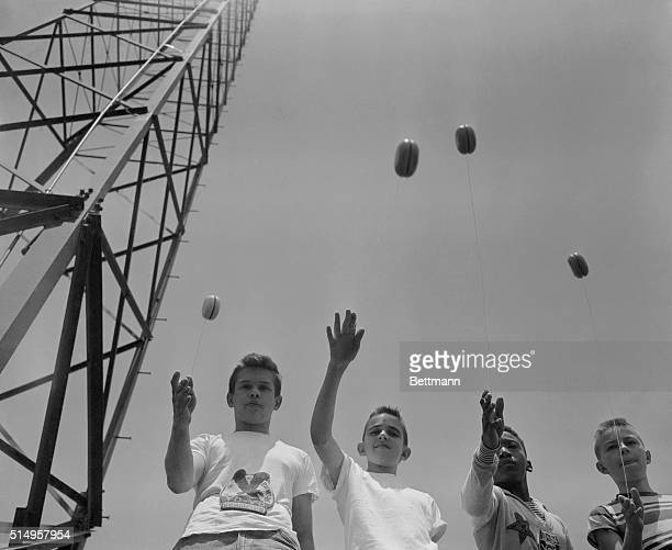 A long time favorite the yoyo had its most recent bigtime success in the early '50's In Kansas City Kansas during a 1954 twirling contest these kids...