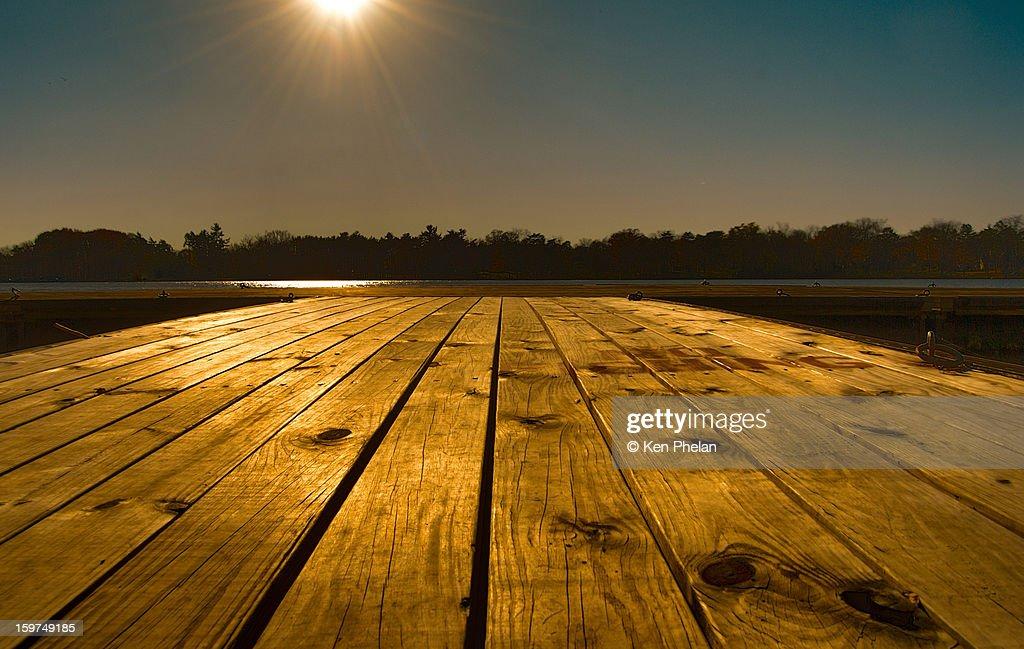 long walk, short pier : Stock Photo