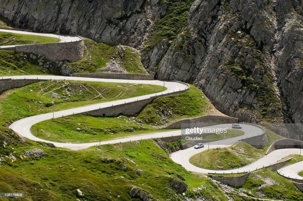 Long Winding Road Through Mountains