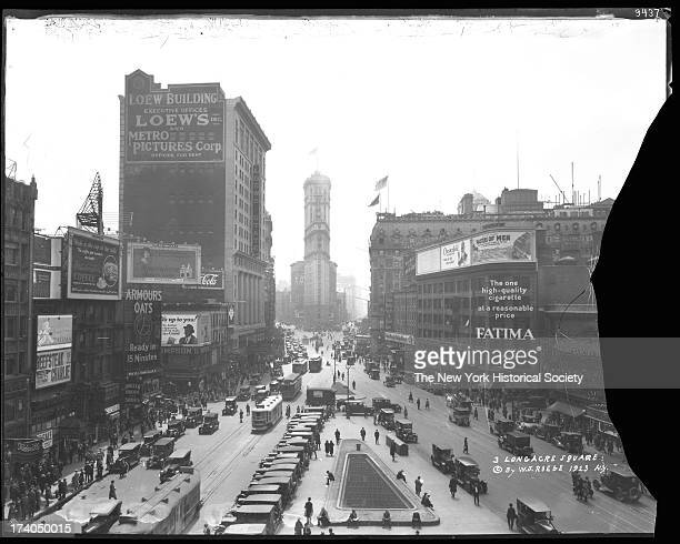 Longacre Square Broadway and Seventh Avenue looking south from 47th Street New York New York 1923
