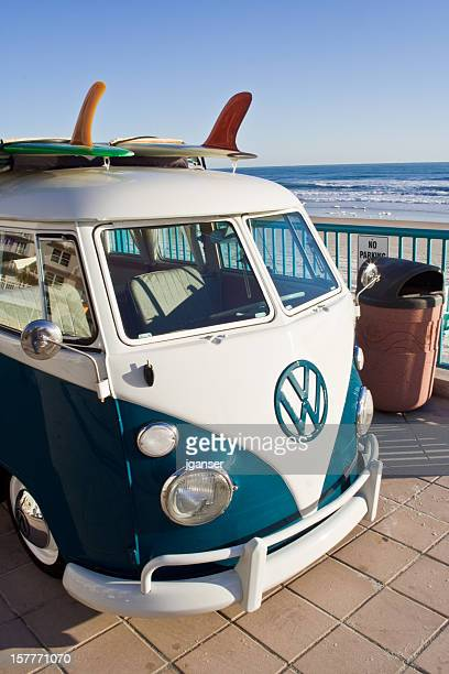 Longboard on VW Van