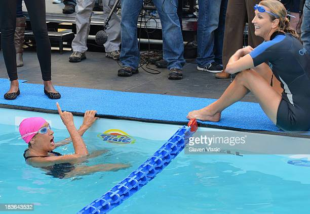Good Morning America Usa Swimming : Lara spencer nyad stock photos and pictures getty images