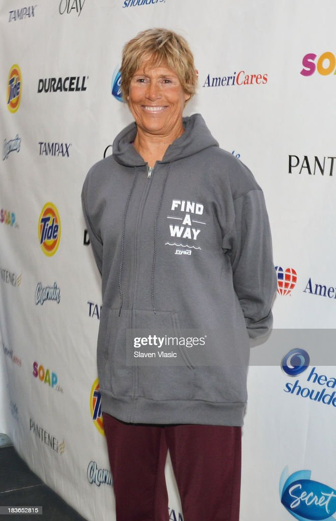 Longdistance swim legend Diana Nyad fresh off her recordbraking swim from Cuba to Florida attends day 1 of 'Swim For Relief' Benefiting Hurricane...