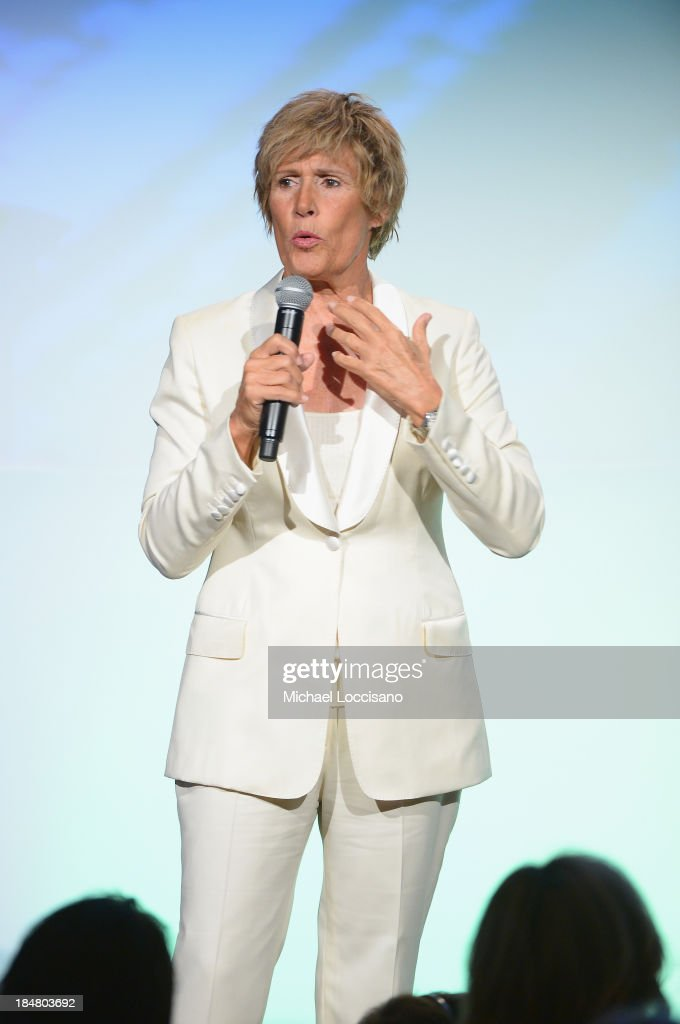 Longdistance swim legend Diana Nyad speaks onstage during the 34th annual Salute to Women In Sports Awards at Cipriani Wall Street on October 16 2013...
