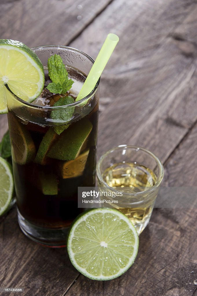 Longdrink in a glass : Stock Photo