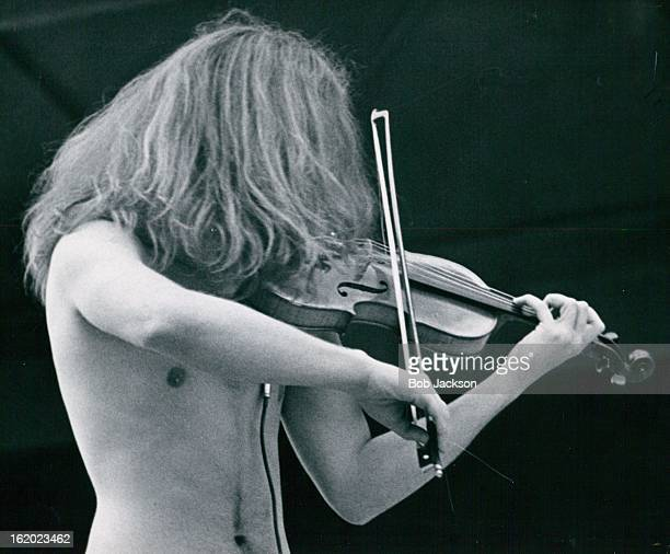 JUN 27 1969 JUN 28 1969 JUN 29 1969 Longhair violinist Jerry Goodman of Chicago with the musical group called The Flock puts all his body mind and...