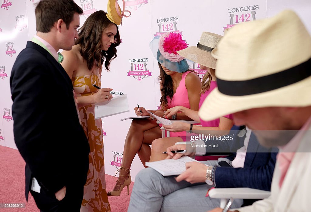 Longines Kentucky Oaks Fashion Contest judges at the 2016 Kentucky Oaks at Churchill Downs on May 6, 2016 in Louisville, Kentucky.