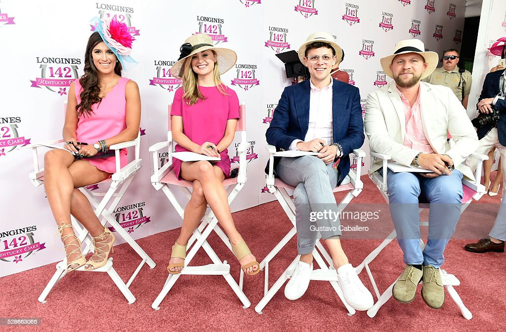 Longines Kentucky Oaks Fashion Contest judges Grace Wayneright of Southern Drawl and Ashley Riddle Williams of Southern Living, and Jeff Tousey of Vanity Fair during the 2016 Kentucky Oaks at Churchill Downs on May 6, 2016 in Louisville, Kentucky.