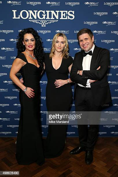 Longines UK Brand Director Katrina Jones Longines Ambassador of Elegance Kate Winslet and Longines VicePresident JuanCarlos Capelli attend the...