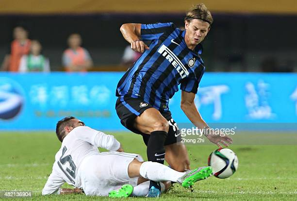 Longo Samuele of FC Internazionale in action during the match of International Champions Cup China 2015 between Real Madrid and FC Internazionale at...