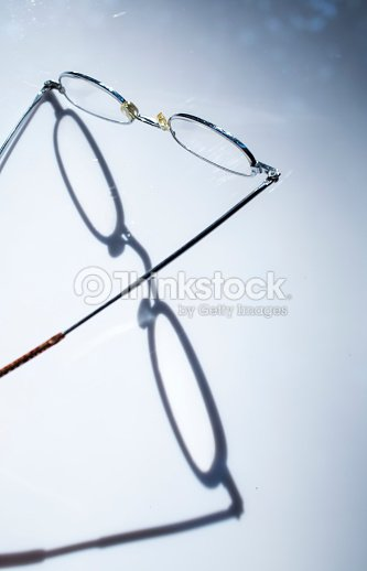 Longsighted Eye Glasses Isolated On White Background Light