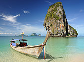 Longtail Boat at Railay Beach, Thailand