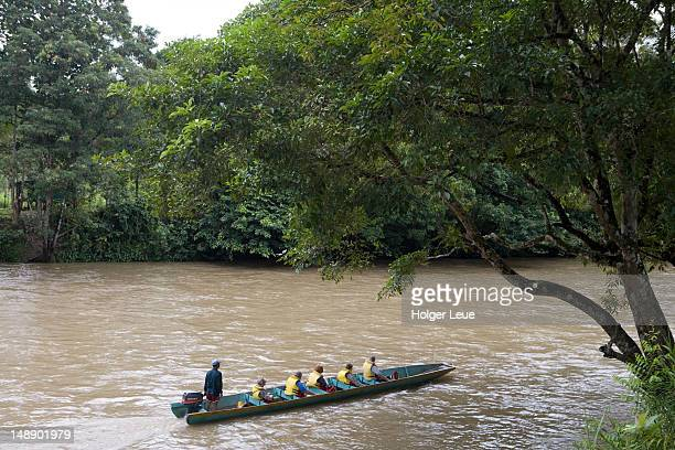 Longtail boat excursion on Temburong River in Ulu Temburong National Park.
