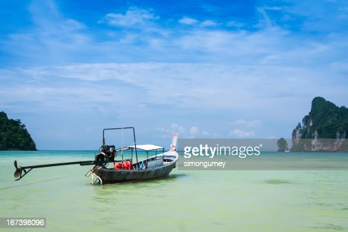 longtail boat koh phi pi island thailand : Stock Photo
