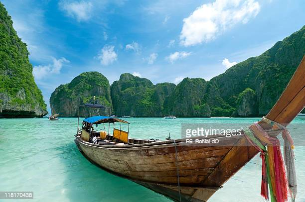 Longtail Boats at the beach on tropical island
