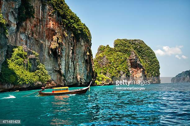 Longtail Wooden Boat at Maya Bay, Thailand