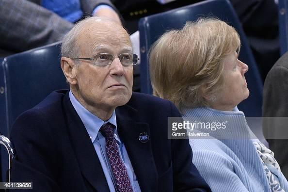 Longtime assistant coach Bill Guthridge attends a memorial service for former North Carolina Tar Heels basketball coach Dean Smith at the Dean Smith...