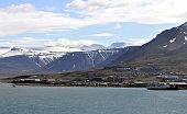 Longyearbyen in Spitzbergen Norwegen