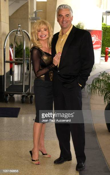 Loni Anderson and John O'Hurley during Television Critics Association UPN Day Arrivals at Renissance Hotel in Hollywood California United States