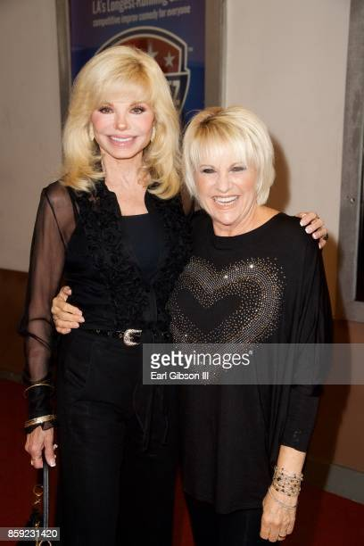 Loni Anderson and Lorna Luft attend the opening of 'Cagney' at El Portal Theatre on October 8 2017 in North Hollywood California