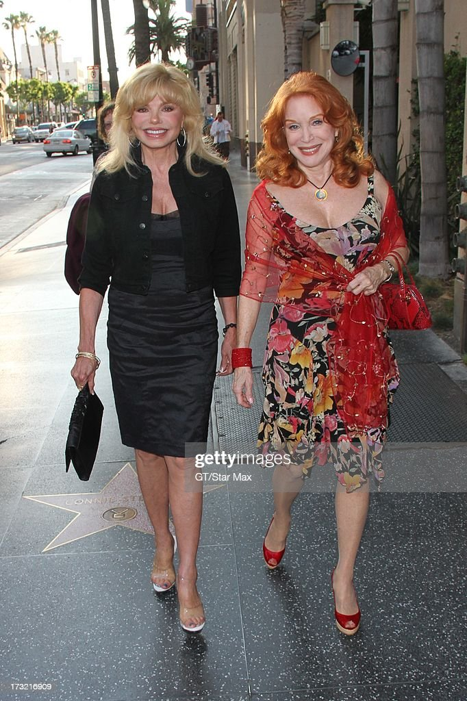 Loni Anderson and Sondra Currie as seen on July 9, 2013 in Los Angeles, California.