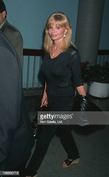 Loni Anderson during Loni Anderson Sighting at Los Angeles International Airport May 19 1999 at Los Angeles International Airport in Los Angeles...