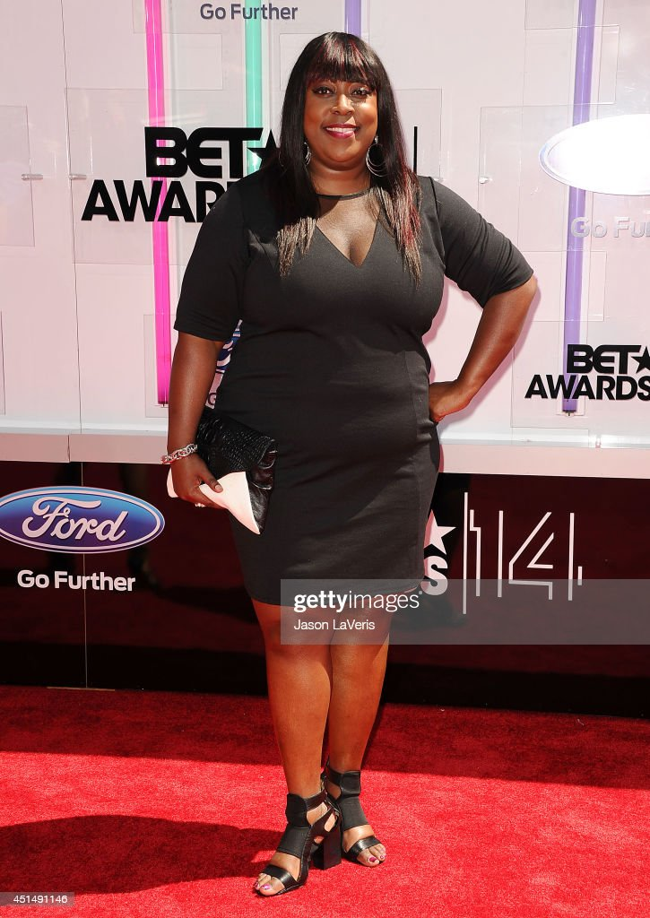 Loni Love attends the 2014 BET Awards at Nokia Plaza LA LIVE on June 29 2014 in Los Angeles California