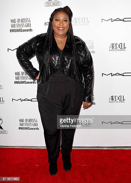 Loni Love attends the MakeUp Artists and Hair Stylists Guild Awards at Paramount Studios on February 20 2016 in Hollywood California