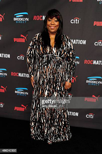 Loni Love attends the Roc Nation Grammy Brunch 2015 on February 7 2015 in Beverly Hills California