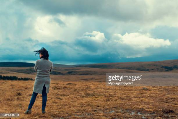 Lonly woman on the moor