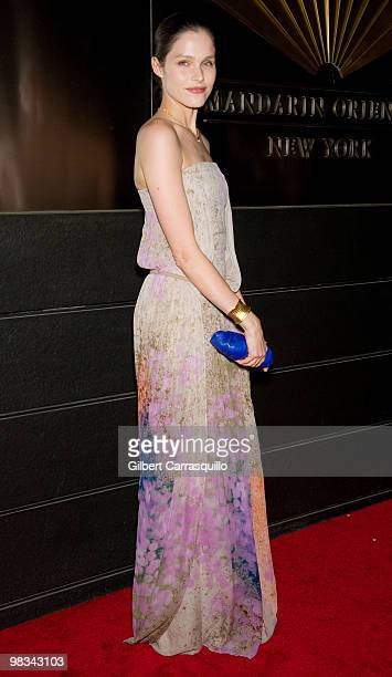 Lonneke Engel attends the 7th Annual New Yorkers for Children Spring Dinner Dance at the Mandarin Oriental Hotel on April 8 2010 in New York City