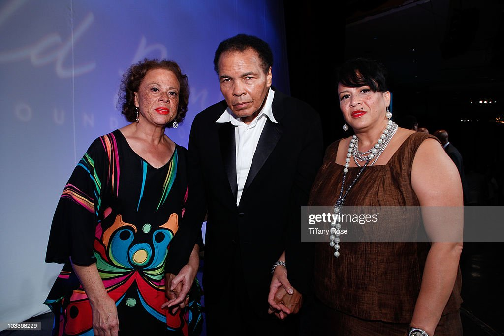 Lonnie Ali, Mohammad Ali and guest attend the 10th Annual Harold Pump Foundation Gala on August 12, 2010 in Century City, California.