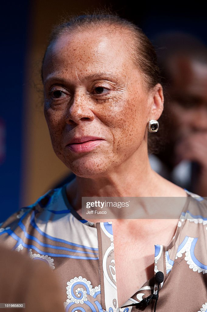 Lonnie Ali takes part in a panel discussion prior to the 2012 Liberty Medal Ceremony at the National Constitution Center on September 13, 2012 in Philadelphia, Pennsylvania.