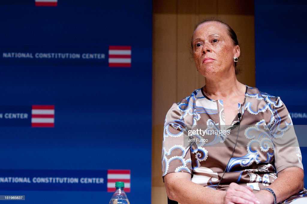 <a gi-track='captionPersonalityLinkClicked' href=/galleries/search?phrase=Lonnie+Ali&family=editorial&specificpeople=223944 ng-click='$event.stopPropagation()'>Lonnie Ali</a> takes part in a panel discussion prior to the 2012 Liberty Medal Ceremony at the National Constitution Center on September 13, 2012 in Philadelphia, Pennsylvania.