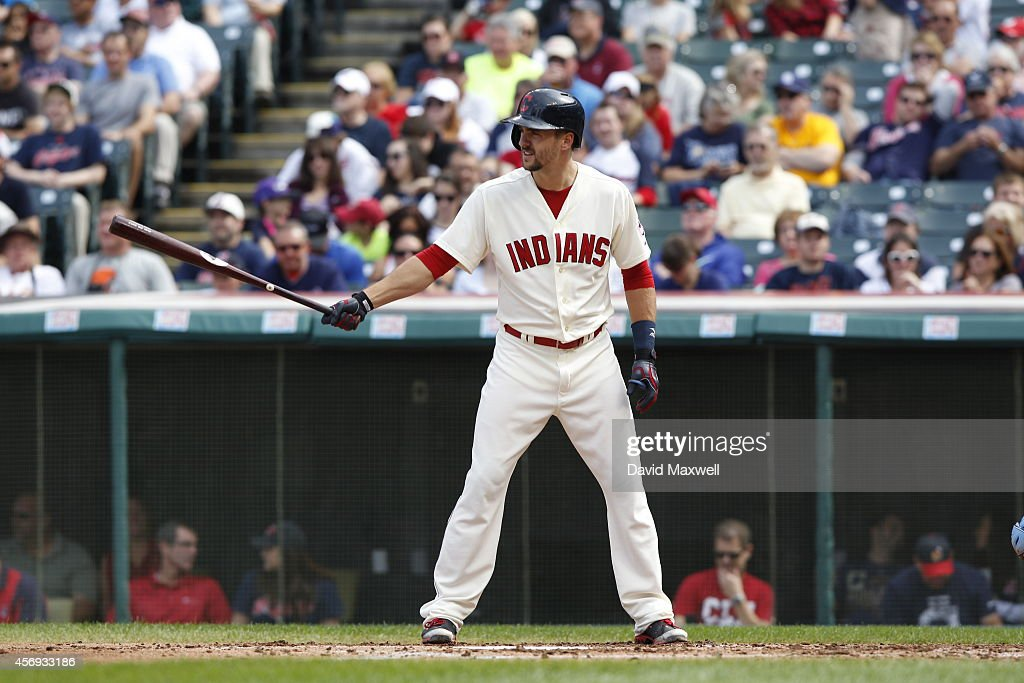 Lonnie Chisenhall of the Cleveland Indians bats against the Tampa Bay Rays during the third inning of their game on September 28 2014 at Progressive...
