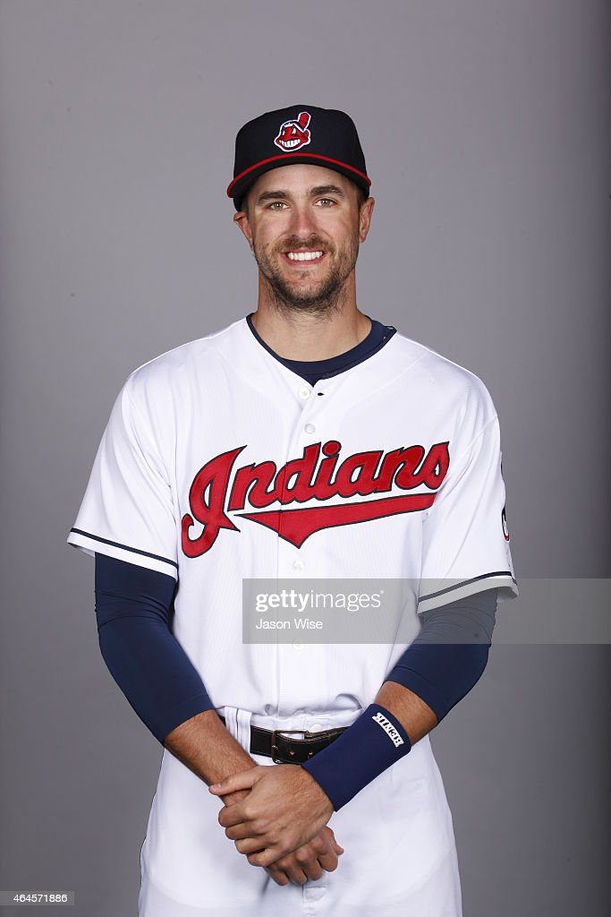 <a gi-track='captionPersonalityLinkClicked' href=/galleries/search?phrase=Lonnie+Chisenhall&family=editorial&specificpeople=6796448 ng-click='$event.stopPropagation()'>Lonnie Chisenhall</a> #8 of the Cleveland Indians poses during Photo Day on Thursday, February 26, 2014 at Goodyear Ballpark in Goodyear, Arizona.