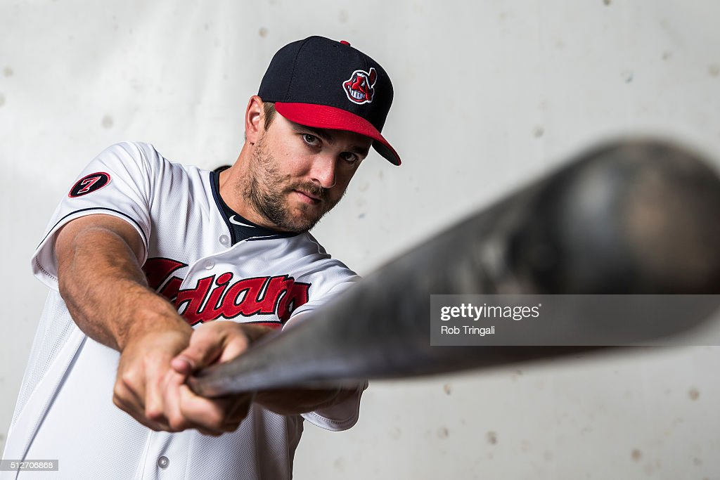 Lonnie Chisenhall of the Cleveland Indians poses for a portrait during photo day at the Cleveland Indians Development Complex on February 27 2016 in...