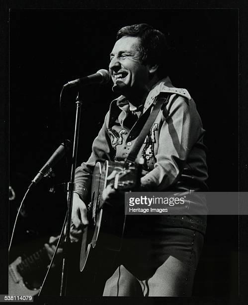 Lonnie Donegan on stage at the Forum Theatre Hatfield Hertfordshire April 1979