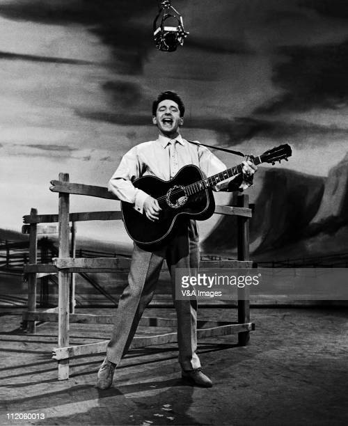 Lonnie Donegan performing on TV show full length 1958