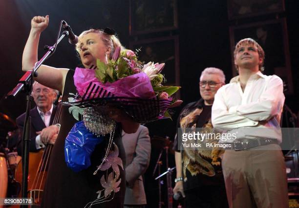 Lonnie Donegan's widow Sharon with her son Anthony during the Lonnie Donegan tribute concert at the Royal Albert Hall in central London Some of the...