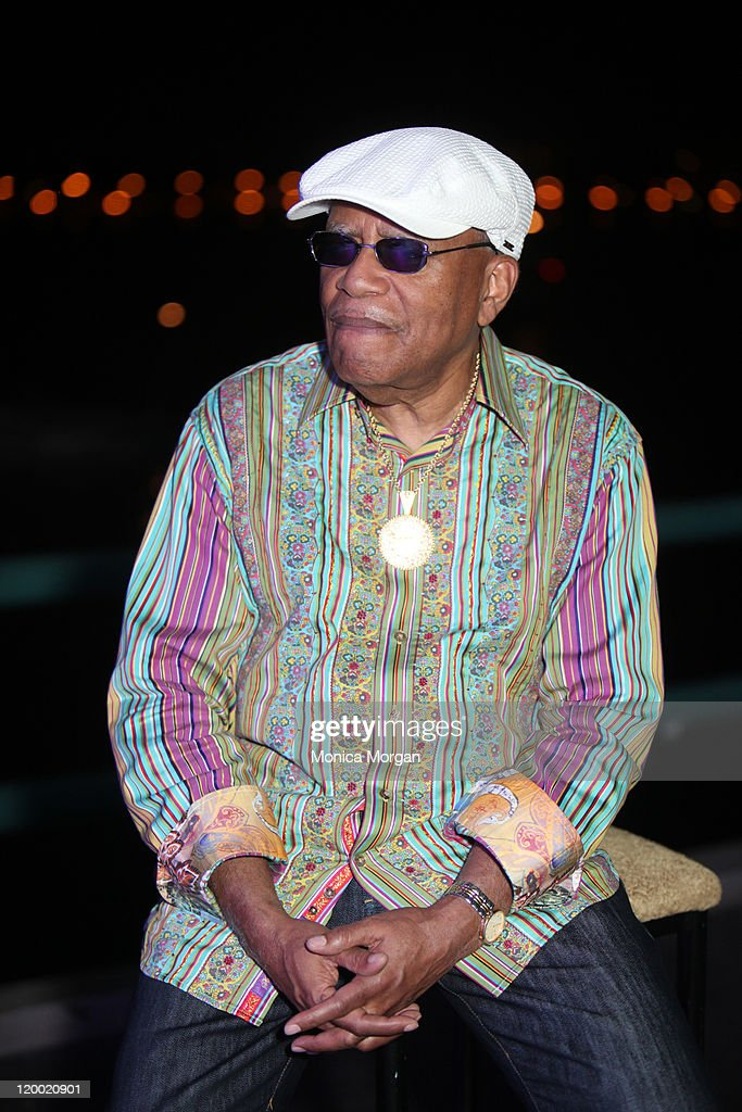 Lonnie Liston Smith backstage at Chene Park on July 27, 2011 in Detroit, Michigan.