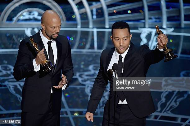 Lonnie Lynn aka Common and John Stephens aka John Legend accept the Best Original Song Award for 'Glory' from 'Selma' during the 87th Annual Academy...