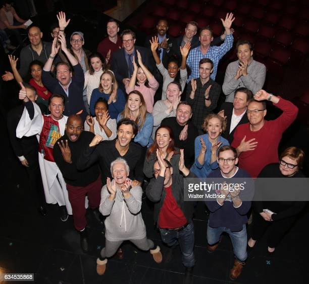 Lonny Price Michael Xavier Glenn Close Siobhan Dillon Fred Johanson and cast attend the Actors' Equity Opening Night Gypsy Robe Ceremony for 'Sunset...