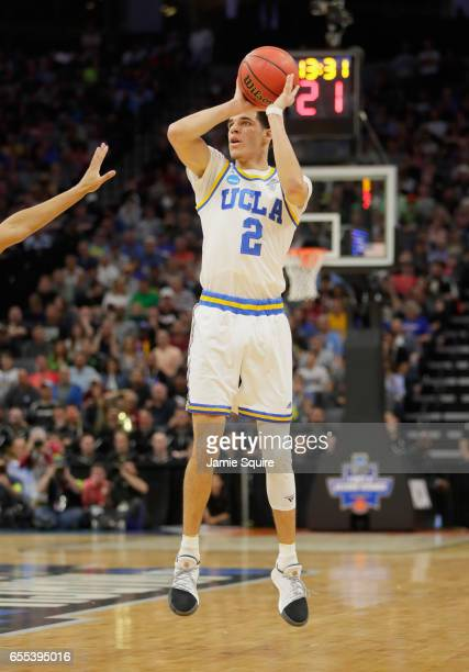 Lonzo Ball of the UCLA Bruins shoots the ball against the Cincinnati Bearcats during the second round of the 2017 NCAA Men's Basketball Tournament at...