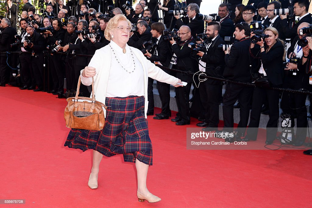 Look alike of Mrs. Doubtfire at the 'Clouds Of Sils Maria' Premiere at the 67th Annual Cannes Film Festival