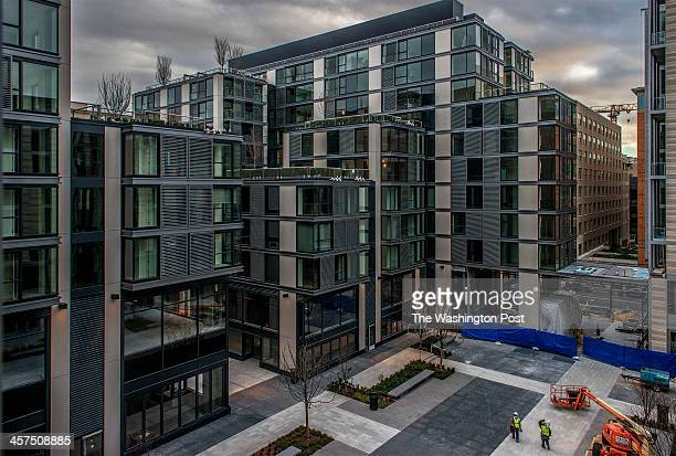 A look at City Center DC backed by investment from Qatar on December 2013 in Washington DC Pictured the interior plaza foreground and new condominiums