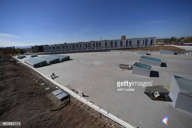 A look at the Green Roof under construction at Flight office building on October 18 2017 in Denver Colorado The middle part of the roof will have an...