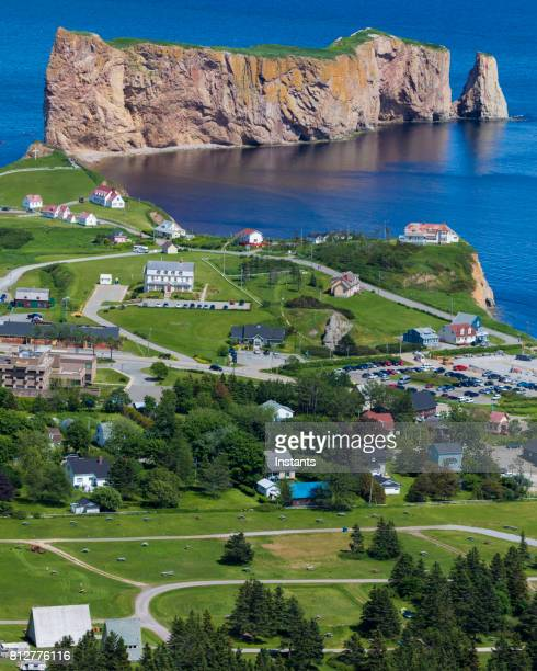 A look at the small town of Percé and its famous Rocher Percé (Perce Rock), part of the Gaspé peninsula in Québec.