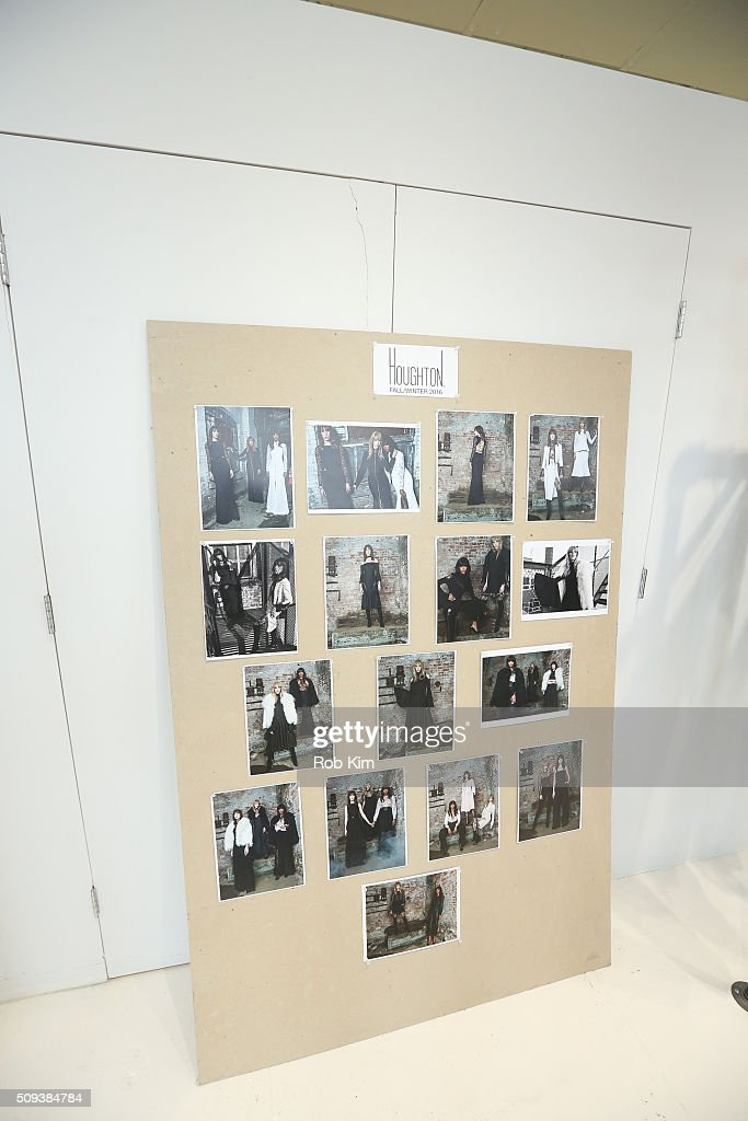 Look board at Houghton presentation during Fall 2016 New York Fashion Week at Houghton Atelier on February 10, 2016 in New York City.